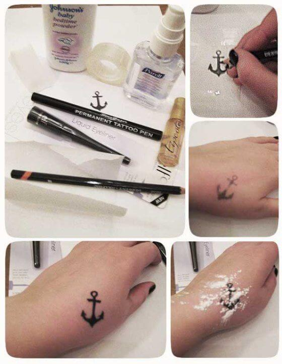 permanent tattoo pen tattoo idea