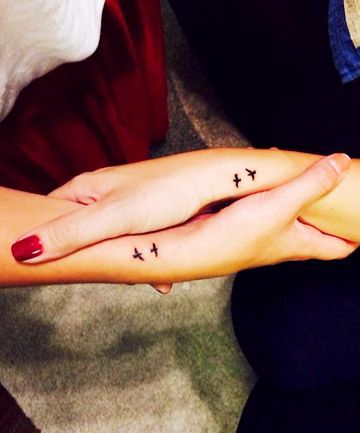 small matching tattoos for best friends