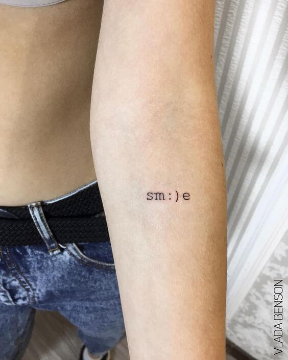 smile tattoo idea
