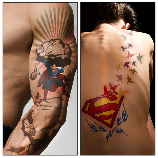 superman tattoo