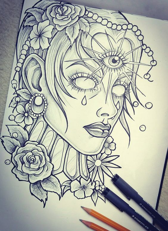 tattoo design on paper