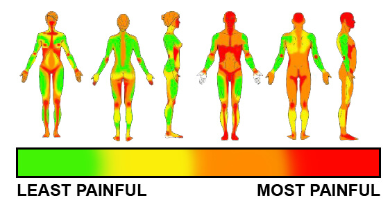 tattoo pain scale for women
