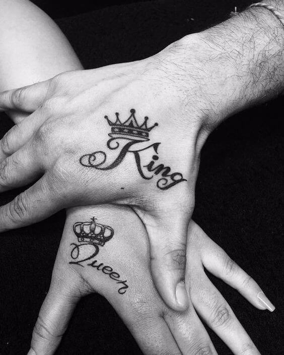 Get a feel of royalty with crown tattoos 12