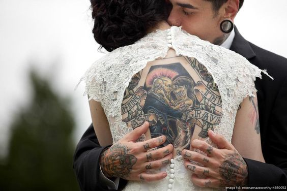 wedding with tattoos