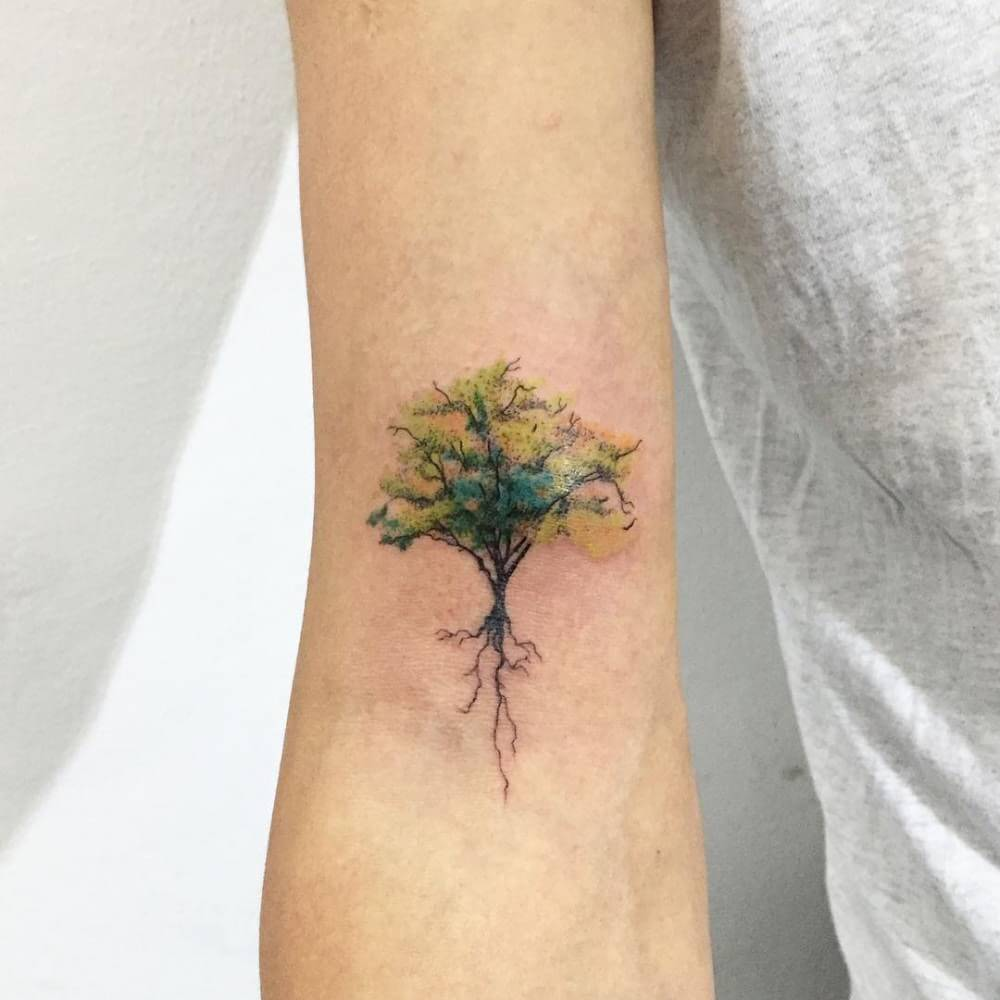 Top 10 And Best ideas for having Oak Tree Designed Tattoos 5