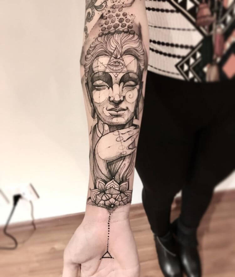 Enlisting the best Ideas for Buddhist Tattoos 39