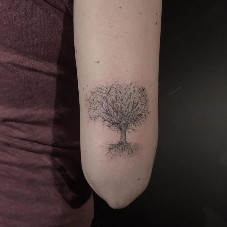 Top 10 And Best ideas for having Oak Tree Designed Tattoos 13