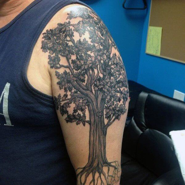 Top 10 And Best ideas for having Oak Tree Designed Tattoos 14