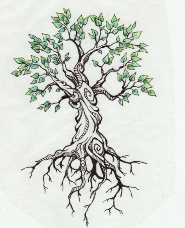 Top 10 And Best ideas for having Oak Tree Designed Tattoos 21