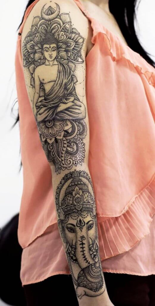 Enlisting the best Ideas for Buddhist Tattoos 22