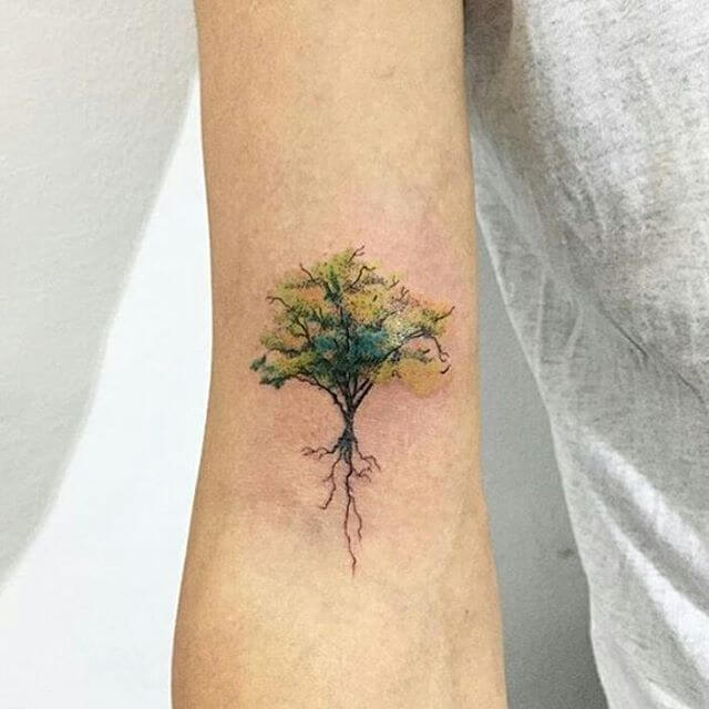 Top 10 And Best ideas for having Oak Tree Designed Tattoos 7