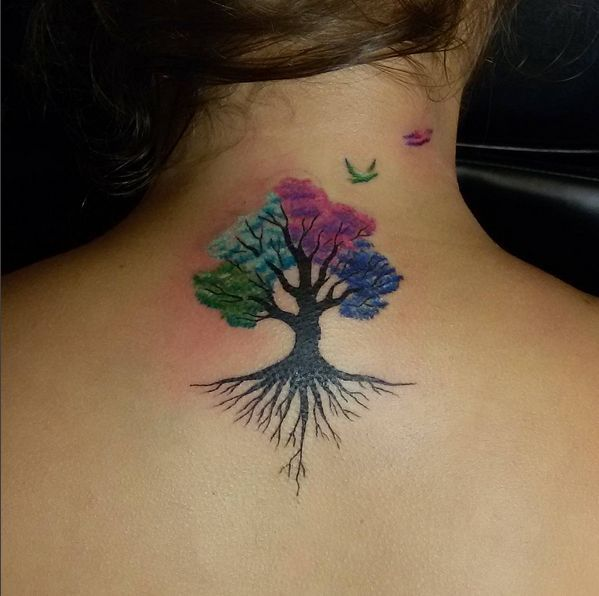 Top 10 And Best ideas for having Oak Tree Designed Tattoos 8