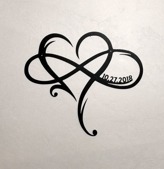 Here are top 10 ideas for embossing an infinity tattoo 8