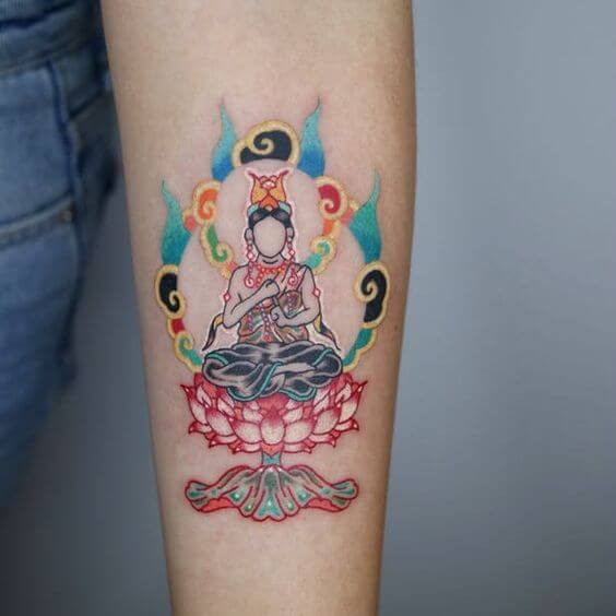 Buddhist tattoos for women