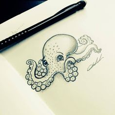 Cartoon Octopus tattoo design