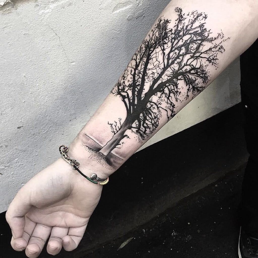 Top 10 And Best ideas for having Oak Tree Designed Tattoos 28