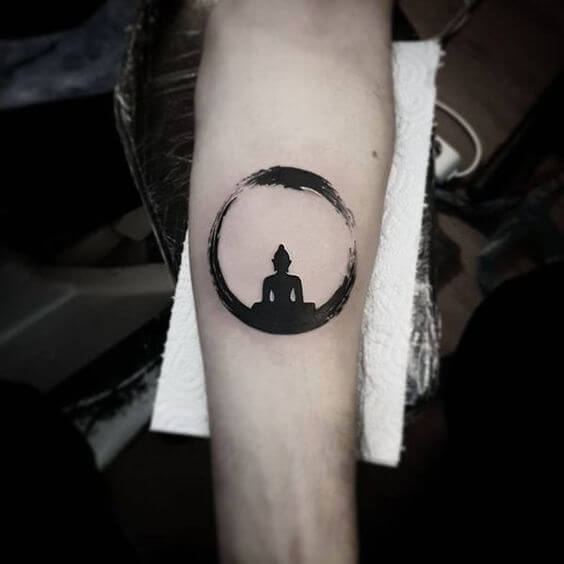 meditative Buddha tattoo