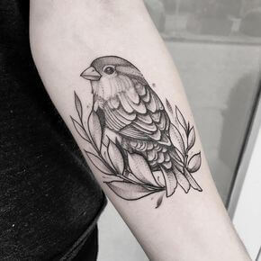 Top sparrow tattoos for a cool and stylish look 18