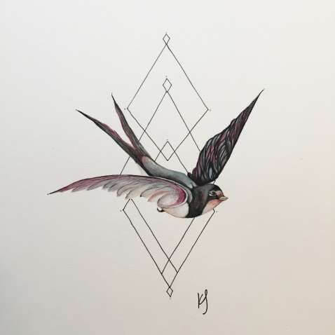 Top sparrow tattoos for a cool and stylish look 14