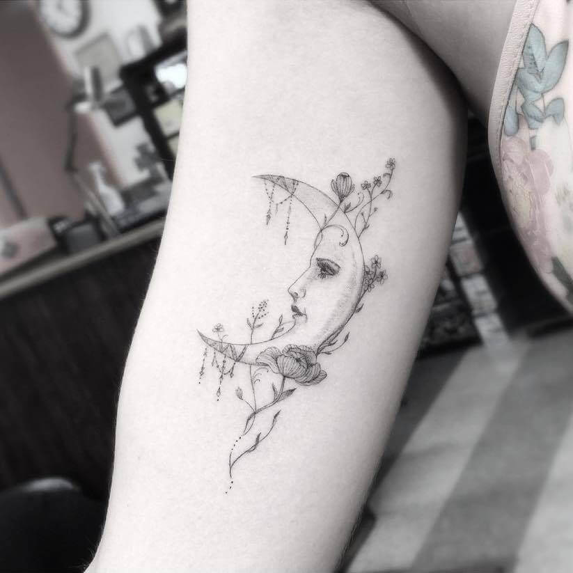 Moon Tattoo Designs and Their Vast History 19