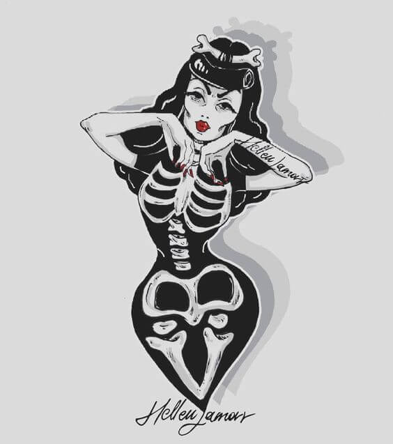 Devil pin up tattoo idea