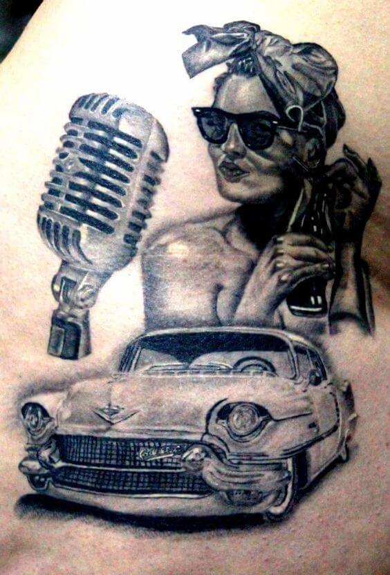 Hollywood pin up tattoo
