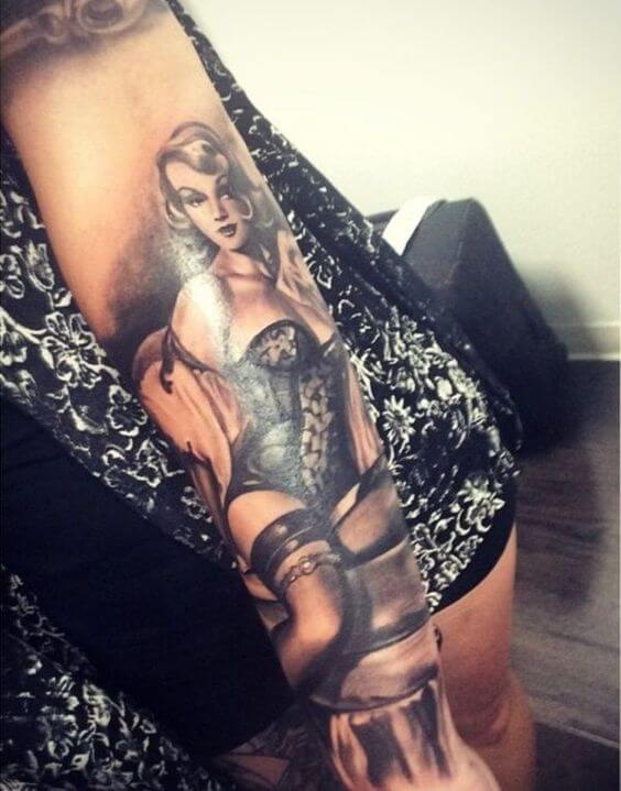 Naughty pin up tattoo
