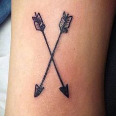 Small arrows tattoo