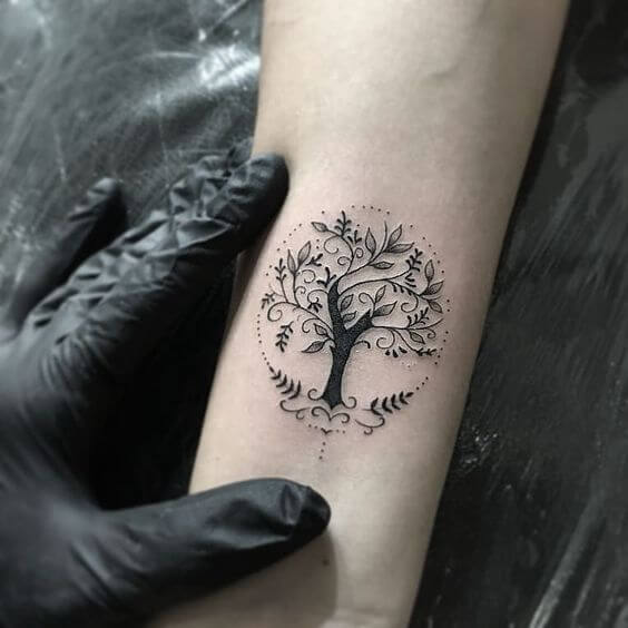 Tree of life small tattoo