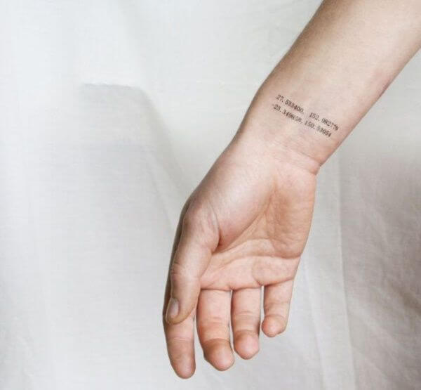15 Ideas for a Coordinates Tattoo That You Would Love On Your Body 28