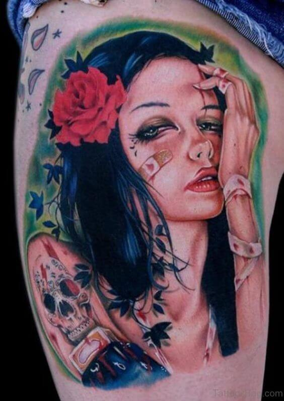 bandaged pin up tattoo