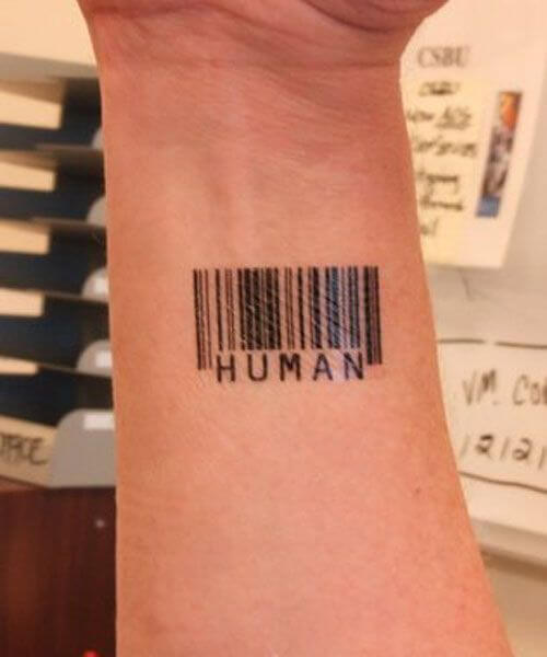 barcode tattoo with meaning