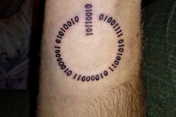 binary code tattoo