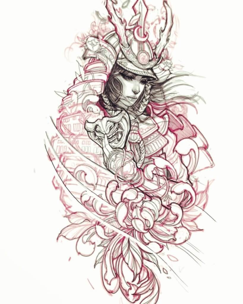Samurai Tattoo Designs: A History Of War And Honor 18