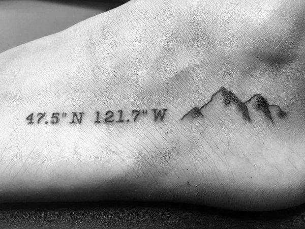 15 Ideas for a Coordinates Tattoo That You Would Love On Your Body 31