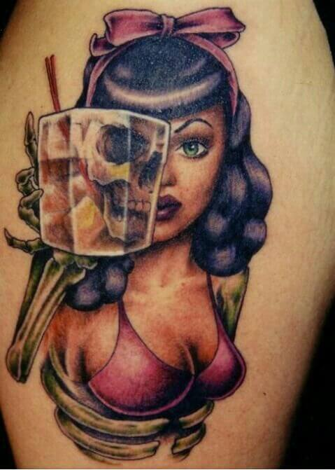 dead tattoo pin up