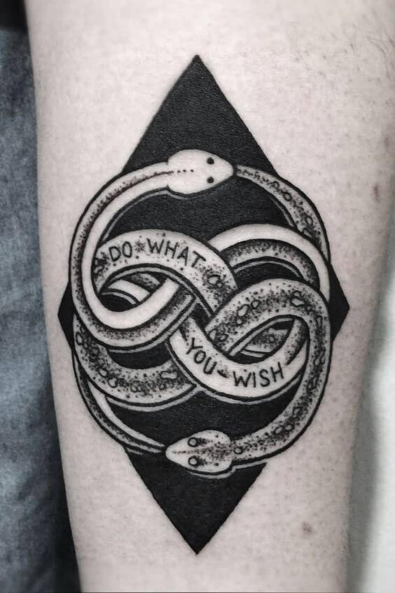 double ouroboros tattoo