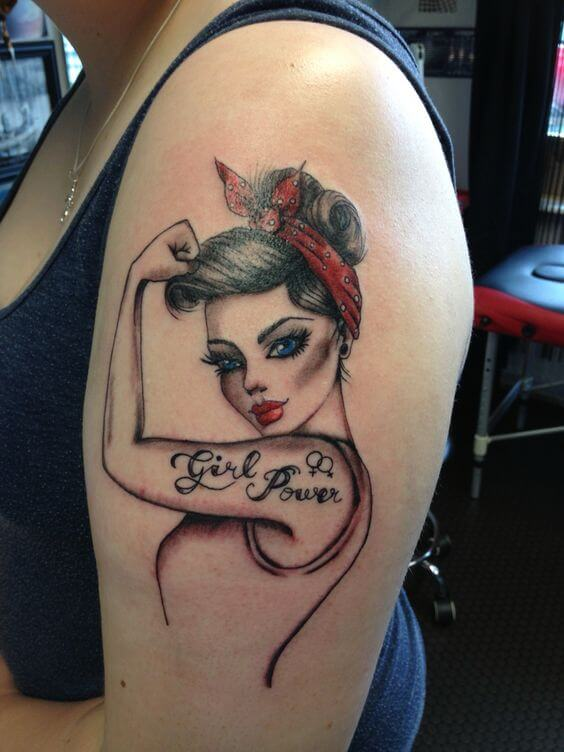 girls power tattoo