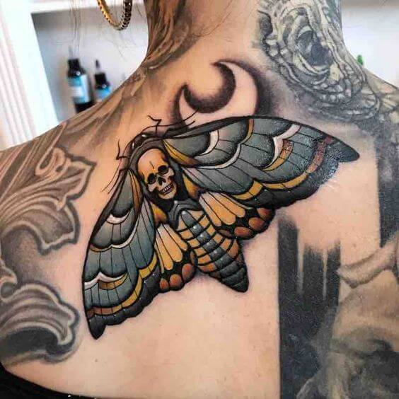 moths tattoo