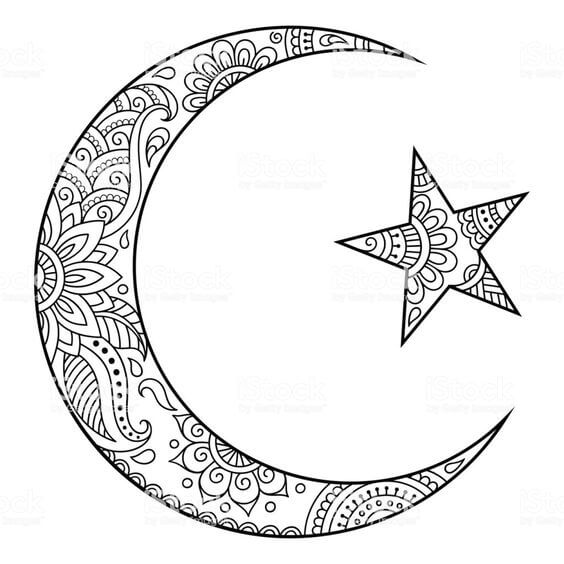 muslim moon tattoo