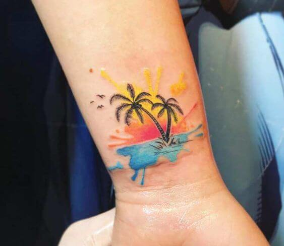 palms tree tattoos