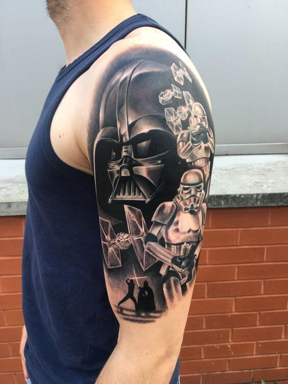 sleeve Boba Fett tattoo