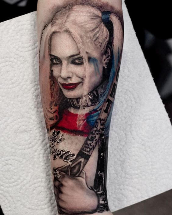 sleeve harley quinn tattoo