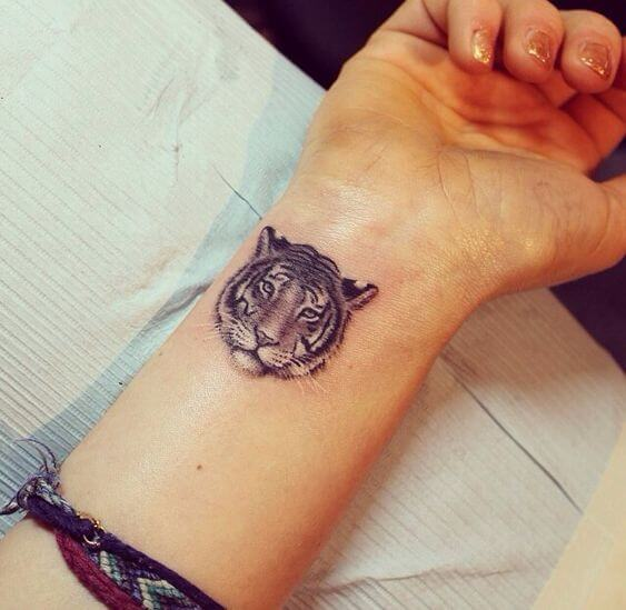 small tiger tattoo