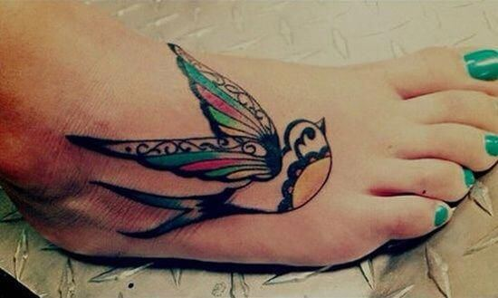 tribal sparrow tattoo