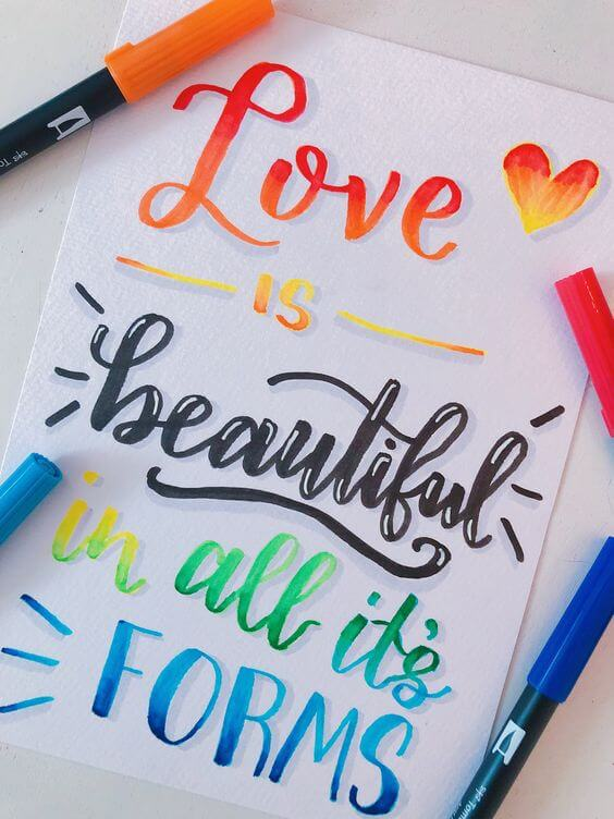 Cute calligraphy quotes