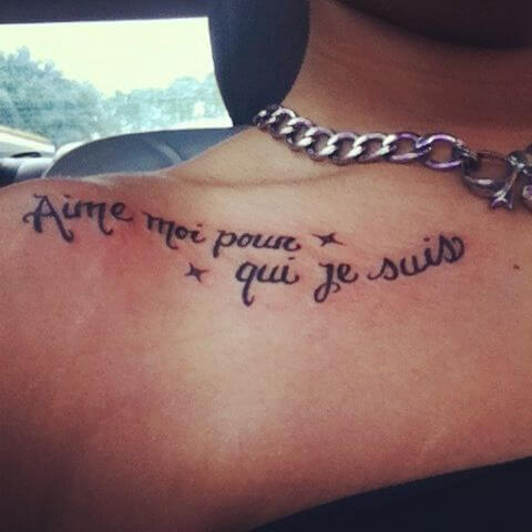 French quotes tattoo