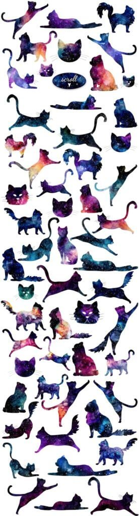 Galaxy Cat Tattoo Ideas