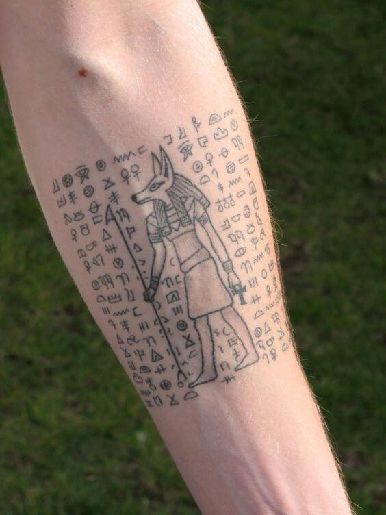 Hieroglyphs Tattoo Idea