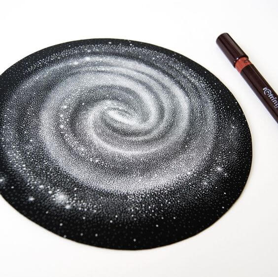 Milky Way Galaxy Tattoo Draw